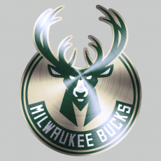 Milwaukee Bucks Stainless steel logo decal sticker