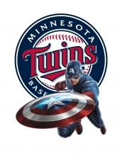 Minnesota Twins Captain America Logo decal sticker