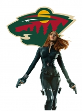 Minnesota Wild Black Widow Logo iron on sticker