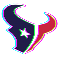 Phantom Houston Texans logo decal sticker