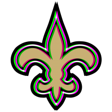 Phantom New Orleans Saints logo decal sticker