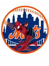 New York Mets Spider Man Logo iron on sticker