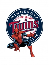 Minnesota Twins Spider Man Logo iron on sticker
