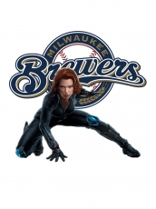 Milwaukee Brewers Black Widow Logo decal sticker