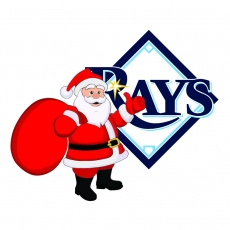 Tampa Bay Rays Santa Claus Logo decal sticker