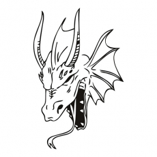 Dragon Head DIY decals stickers