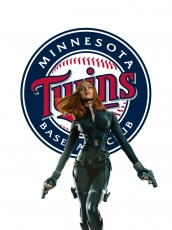 Minnesota Twins Black Widow Logo decal sticker