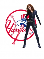 New York Yankees Black Widow Logo iron on sticker