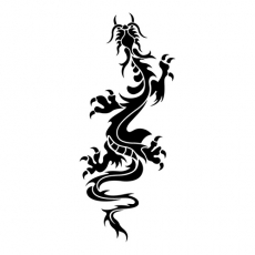 Oriental Climbing Dragon DIY decals stickers