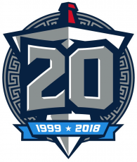 Tennessee Titans 2018 Anniversary Logo decal sticker