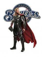 Milwaukee Brewers Thor Logo decal sticker