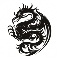 Dragon Print DIY decals stickers