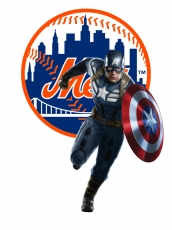 New York Mets Captain America Logo iron on sticker