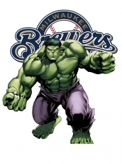 Milwaukee Brewers Hulk Logo decal sticker
