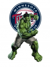 Minnesota Twins Hulk Logo decal sticker