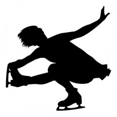One leg Aerobic Womans Figure Skating iron on transfers