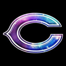galaxy chicago bears iron on stickers