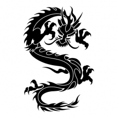 Oriental Attacking Dragon DIY decals stickers