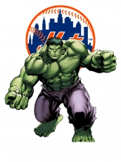 New York Mets Hulk Logo iron on sticker