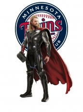 Minnesota Twins Thor Logo iron on sticker