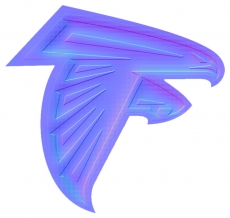 atlanta falcons 2003-pres primary colorful embossed logo decal sticker