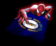 Spiderman Kentucky State Flag decal sticker