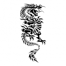 Oriental Dragon DIY decals stickers