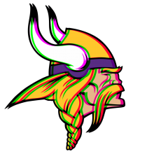 Phantom Minnesota Vikings logo decal sticker