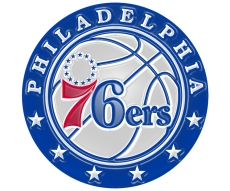 philadelphia 76ers 2016-pres primary plastic effect logo iron on transfer