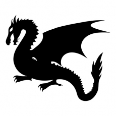Dragon Silhouette Kids Mythical Creatures DIY decals stickers