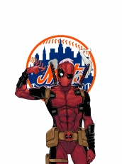 New York Mets Deadpool Logo iron on sticker