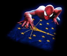 Spiderman Indiana State Flag decal sticker