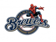 Milwaukee Brewers Spider Man Logo decal sticker