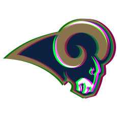 Phantom Los Angeles Rams logo decal sticker