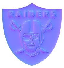 oakland raiders 1995-pres primary colorful embossed logo iron on transfer