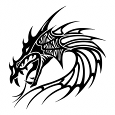 Dragon Head Mythical Creatures DIY decals stickers