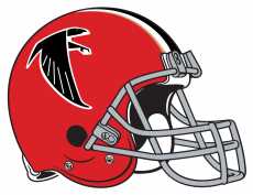 Atlanta Falcons 1966-1969 Helmet decal sticker