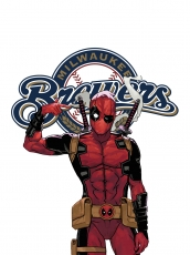 Milwaukee Brewers Deadpool Logo decal sticker