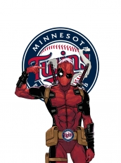 Minnesota Twins Deadpool Logo decal sticker