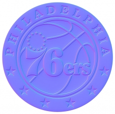 philadelphia 76ers 2016-pres primary colorful embossed logo decal sticker