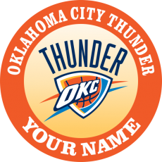 Oklahoma City Thunder custom iron on transfer