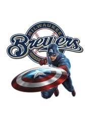 Milwaukee Brewers Captain America Logo decal sticker